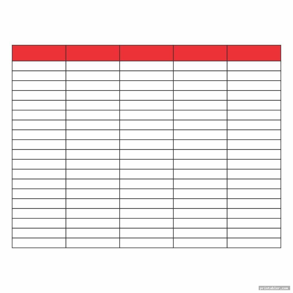 printable column template 5 columns image free