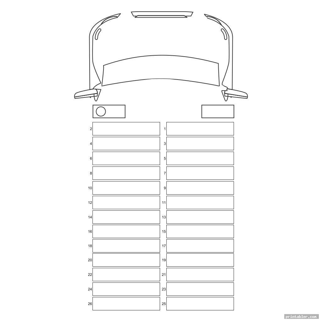 printable school bus diagram image free