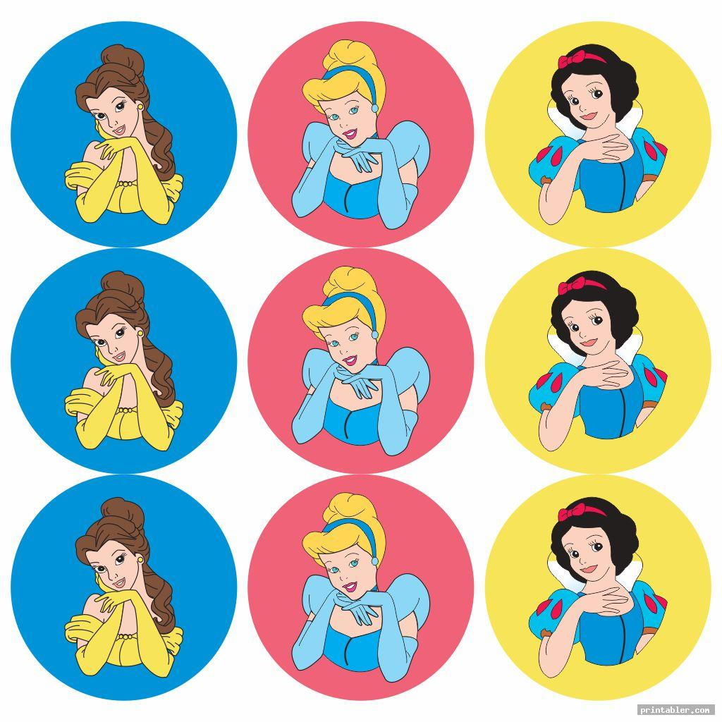 realistic disney princess cupcake toppers printables