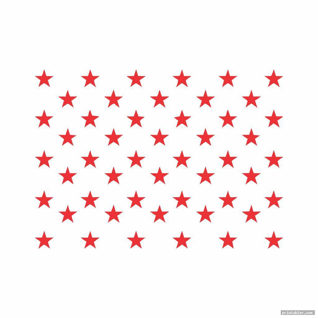 red american flag stars stencil printable