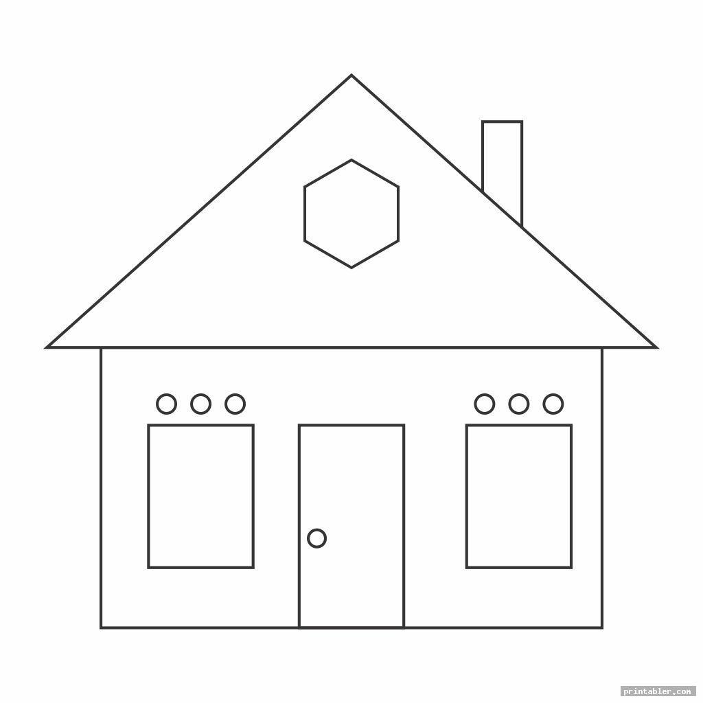shape worksheets printable houses image free