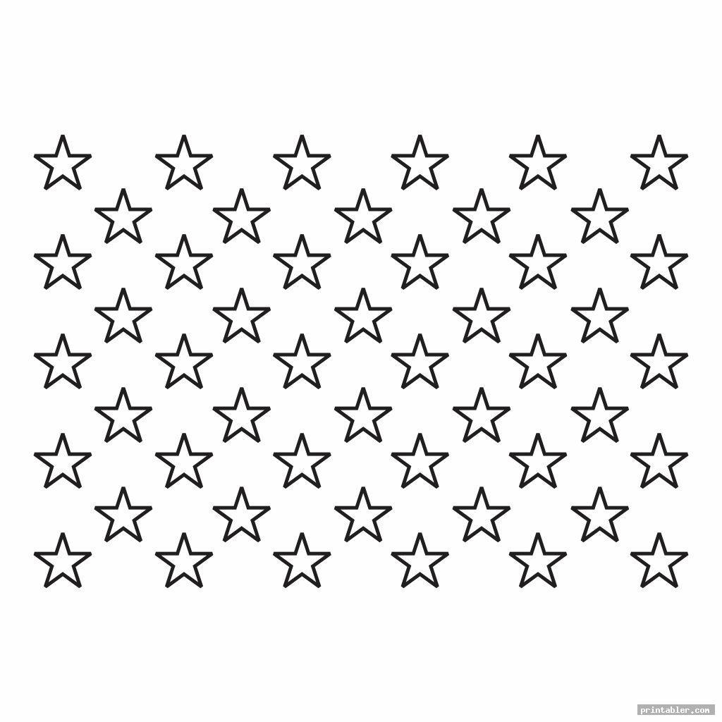 simple american flag stars stencil printable