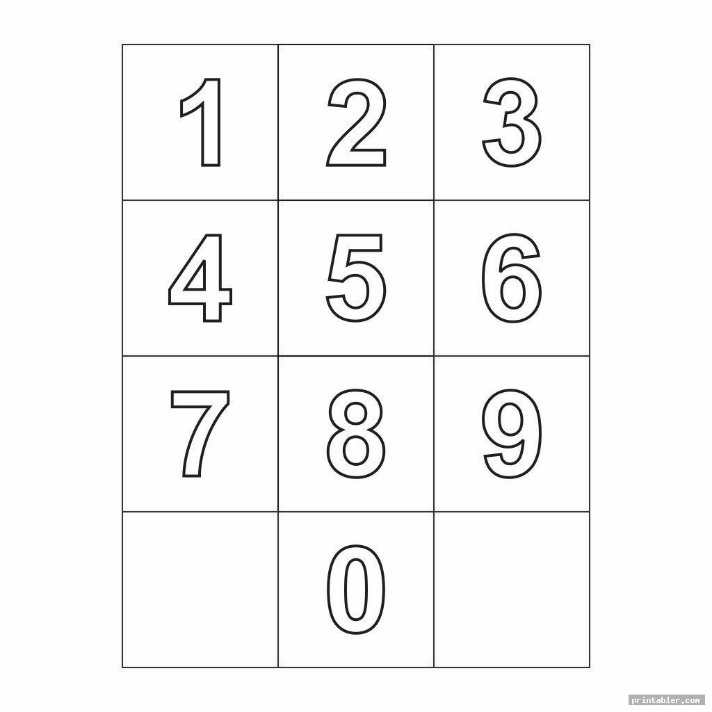 photograph relating to Printable Numbers 0-9 titled High Printable Quantities 0-9 -