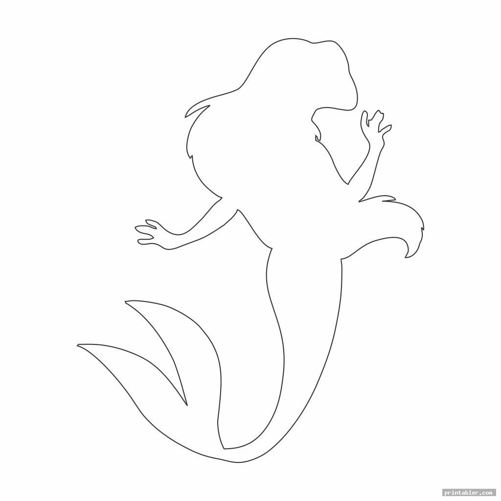 simple little mermaid printable stencils image free