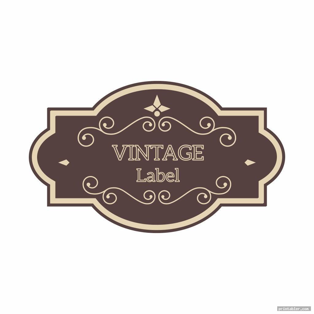 simple miniature printable vintage labels