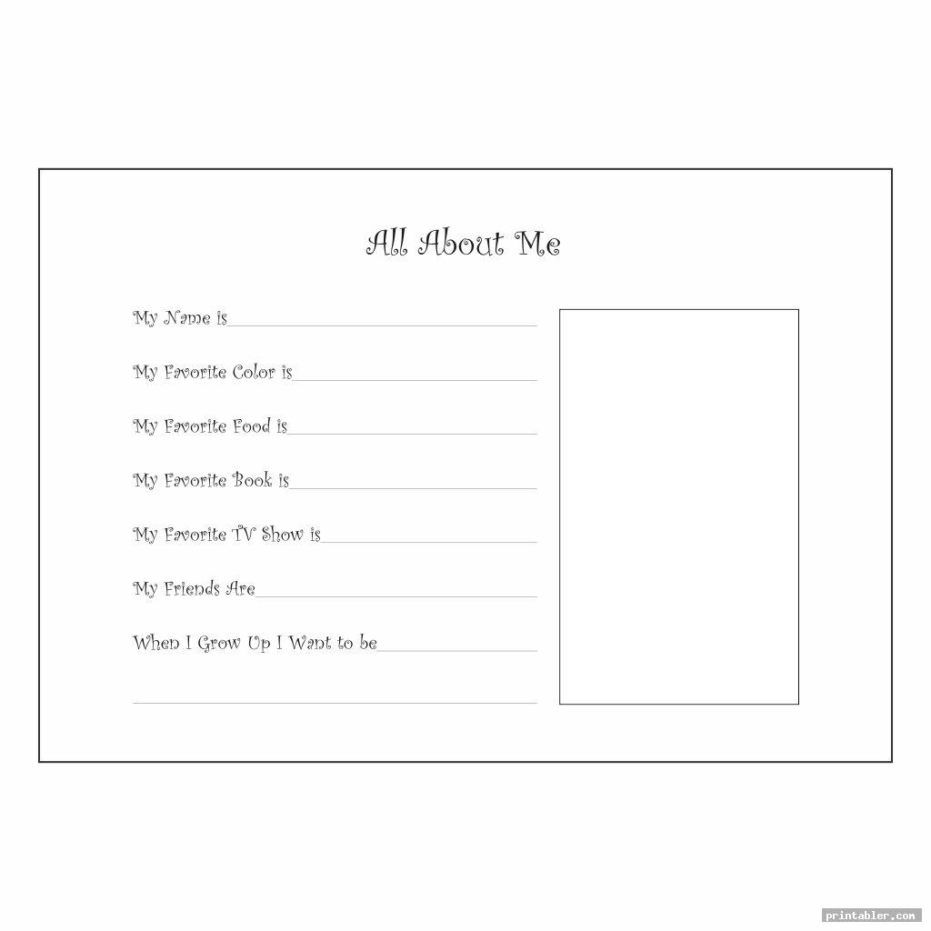 simple printable all about me posters