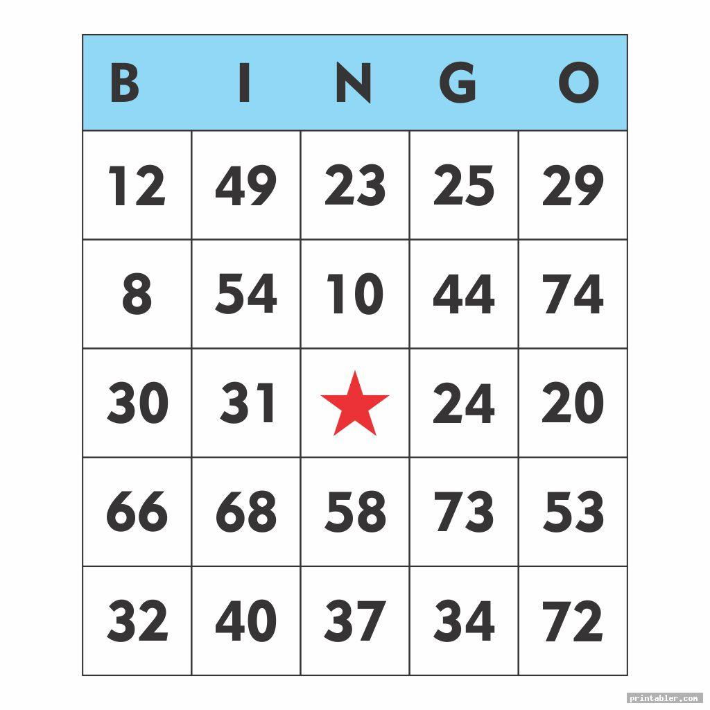 simple printable bingo numbers 1 75