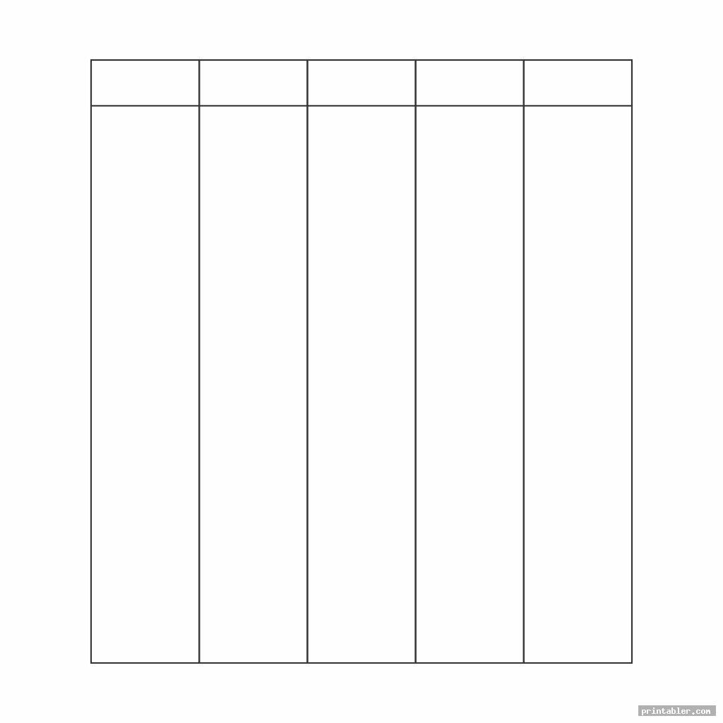 simple printable column template 5 columns