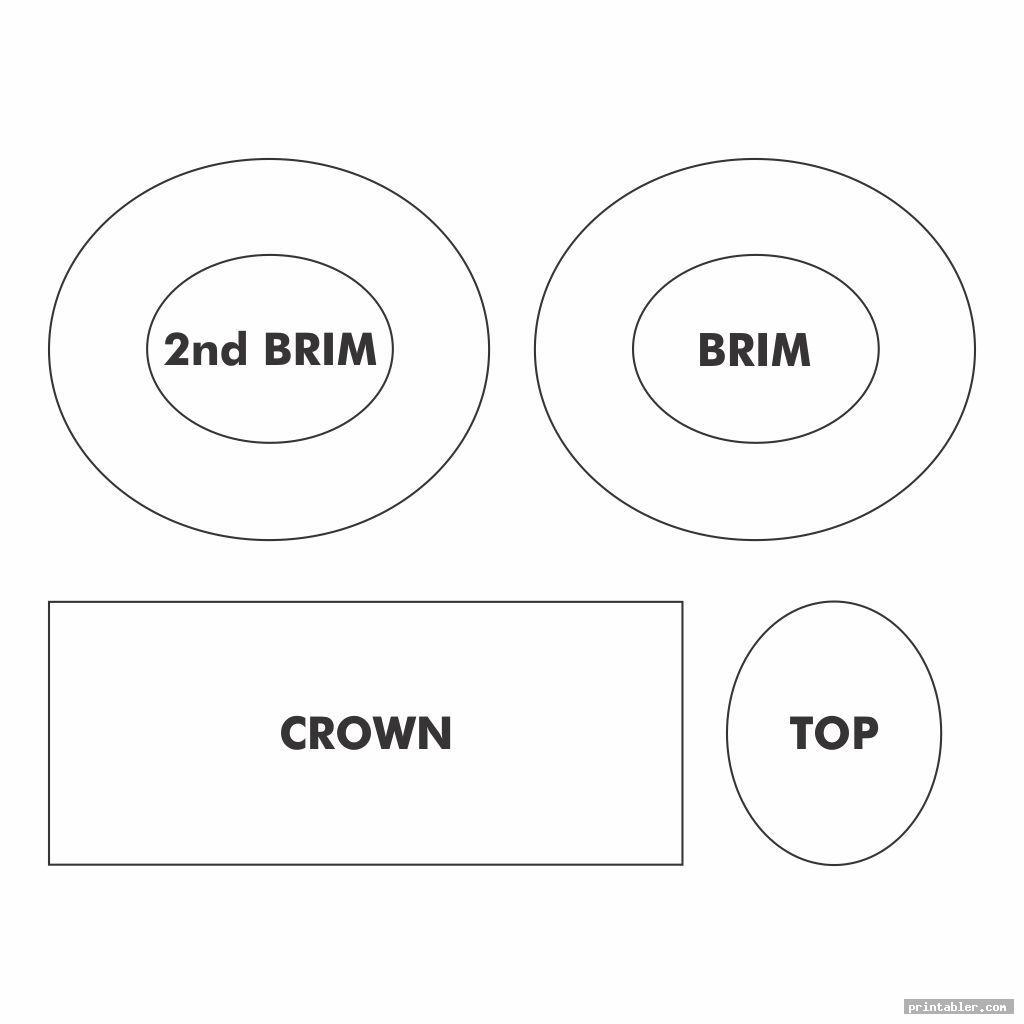 simple printable top hat pattern