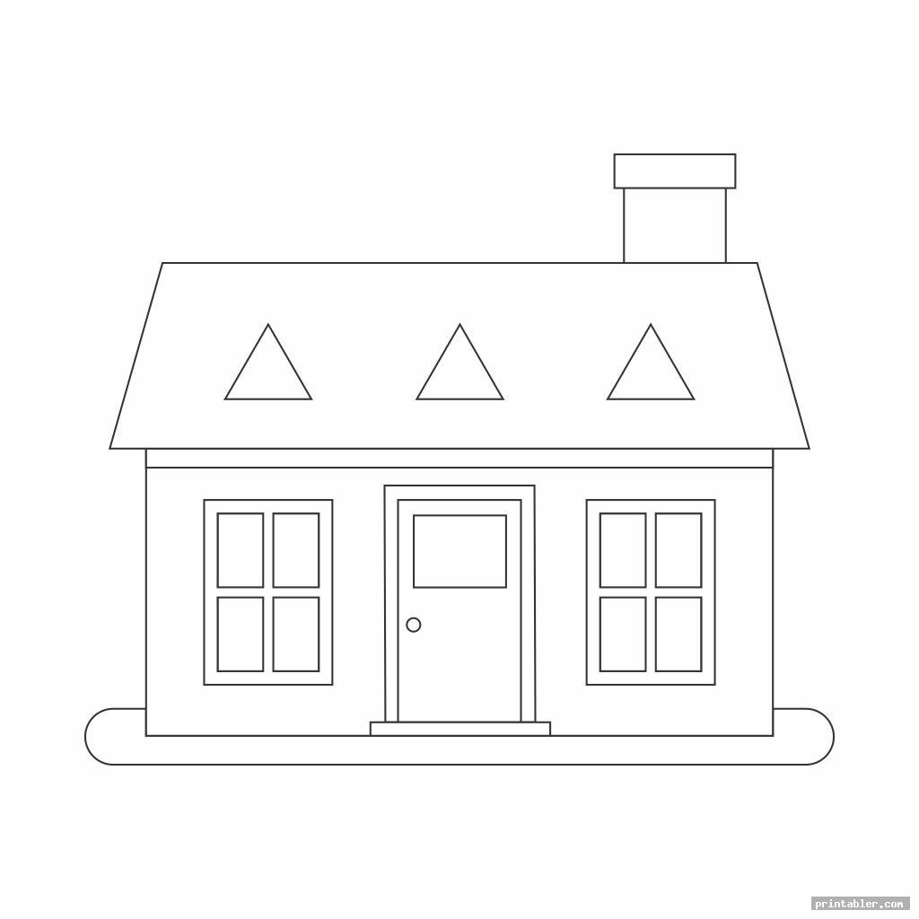 simple shape worksheets printable houses