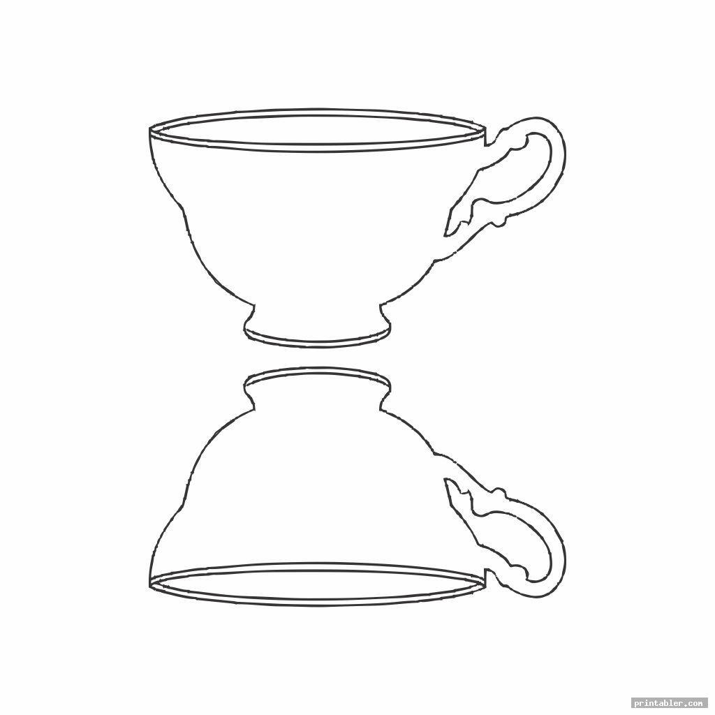 simple tea cups printable box templates image free