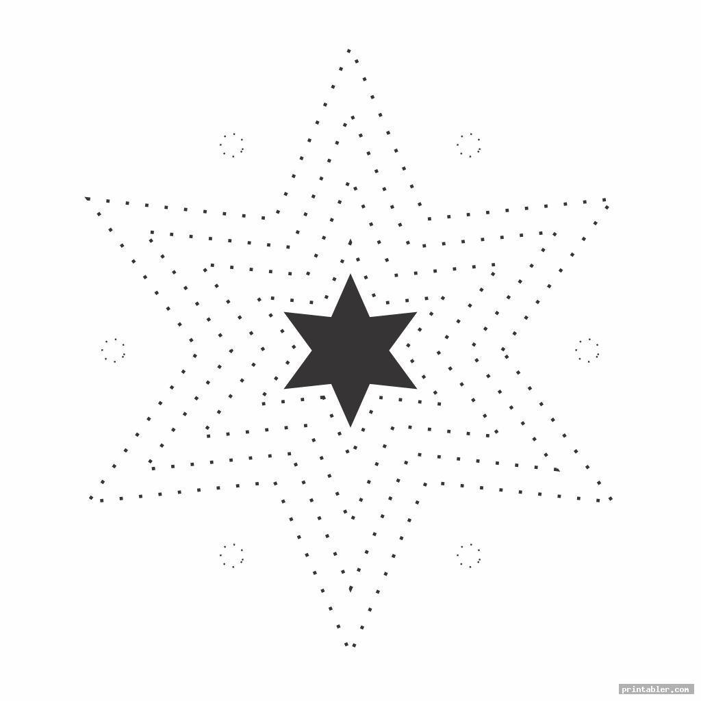 stars easy string art patterns printable