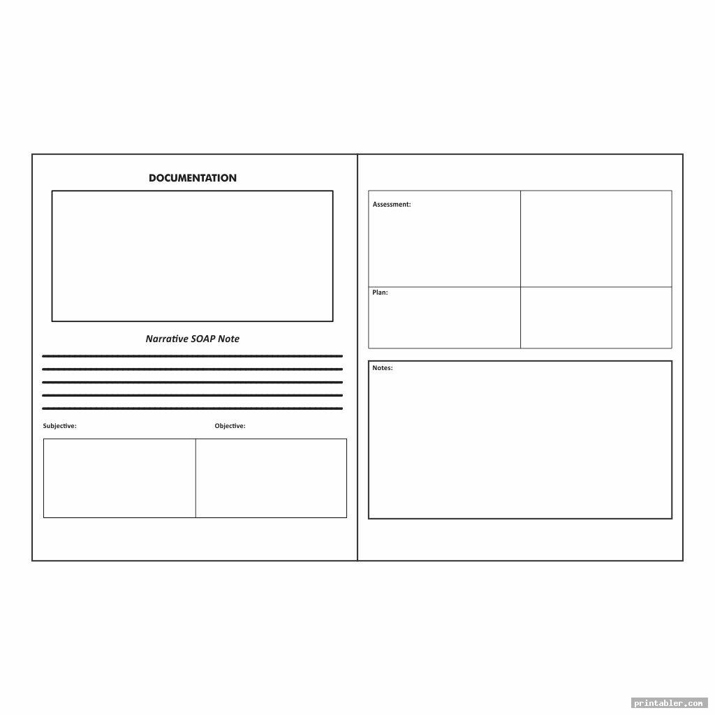two pages printable counseling soap note templates