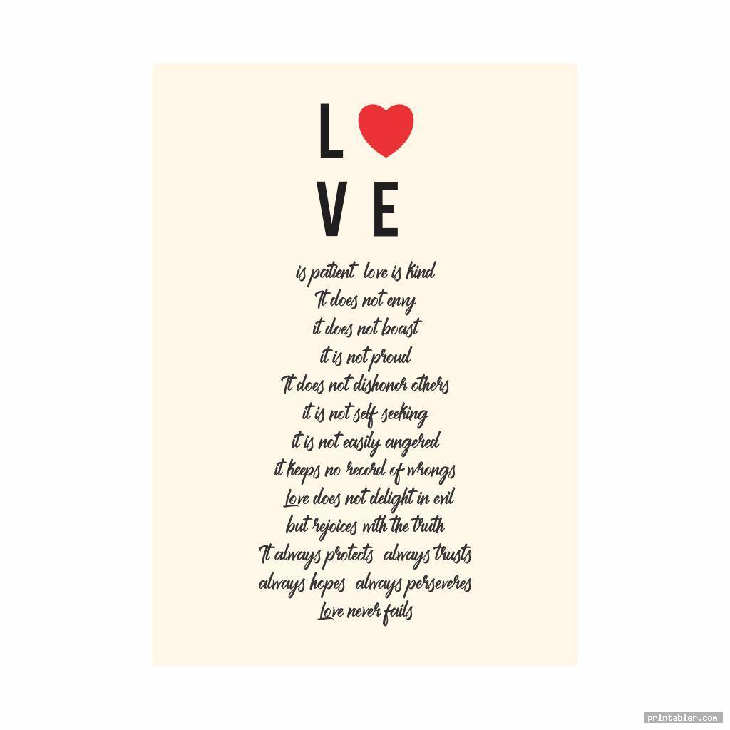 1 corinthians 13 printable poem image free
