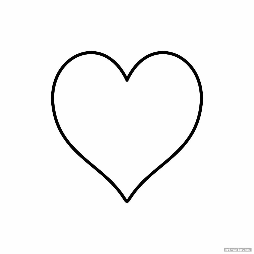 2 Inch Heart Template Printable