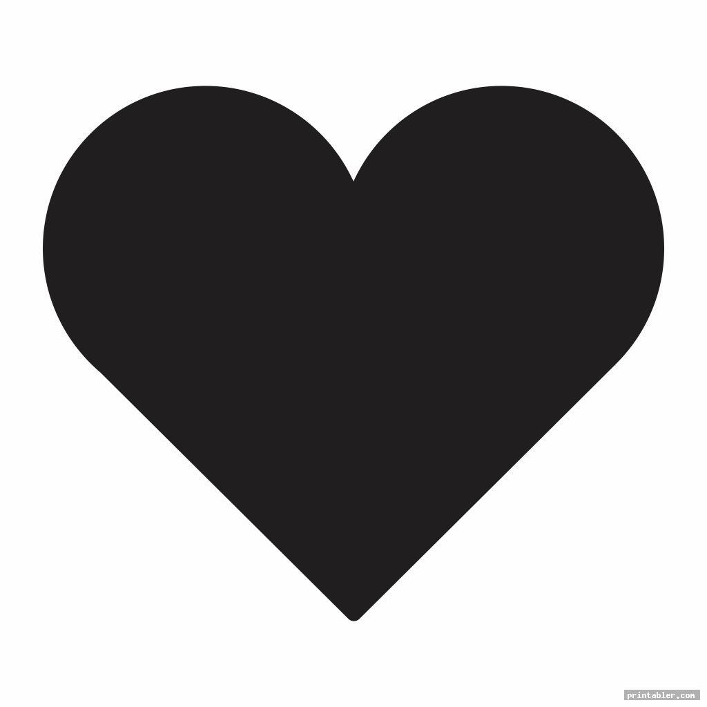 3 inch heart template printable image free