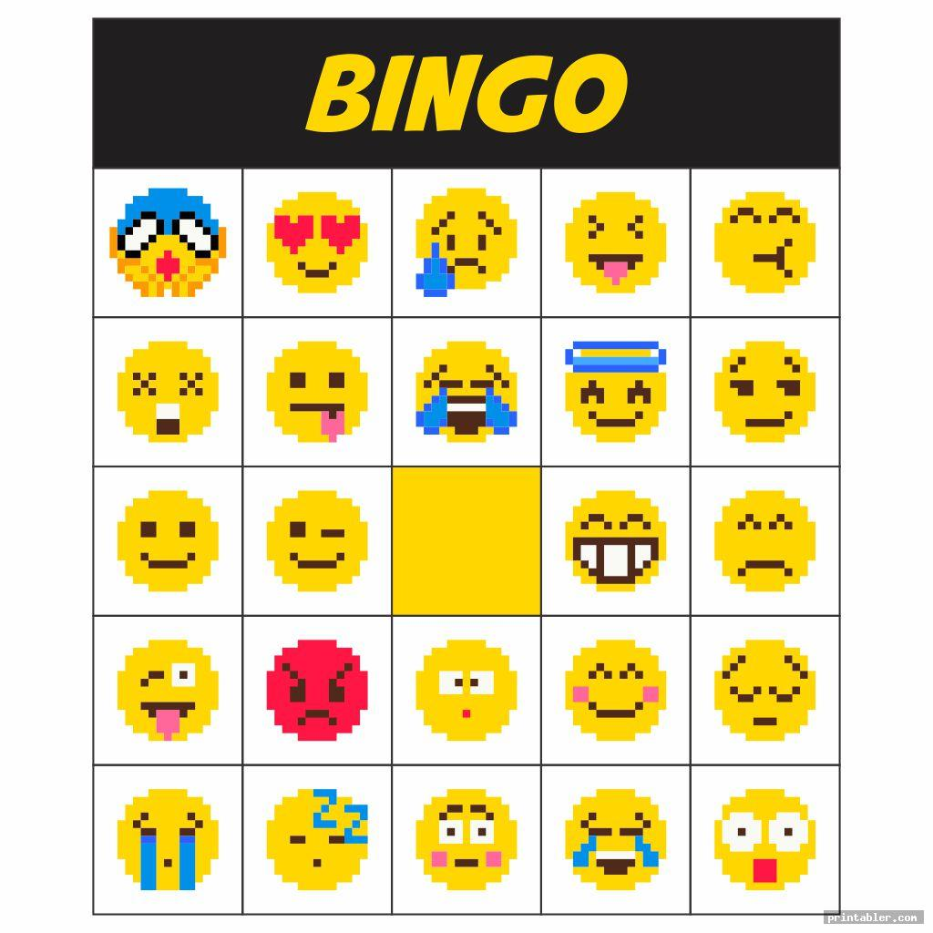 8bit emotions bingo printable game