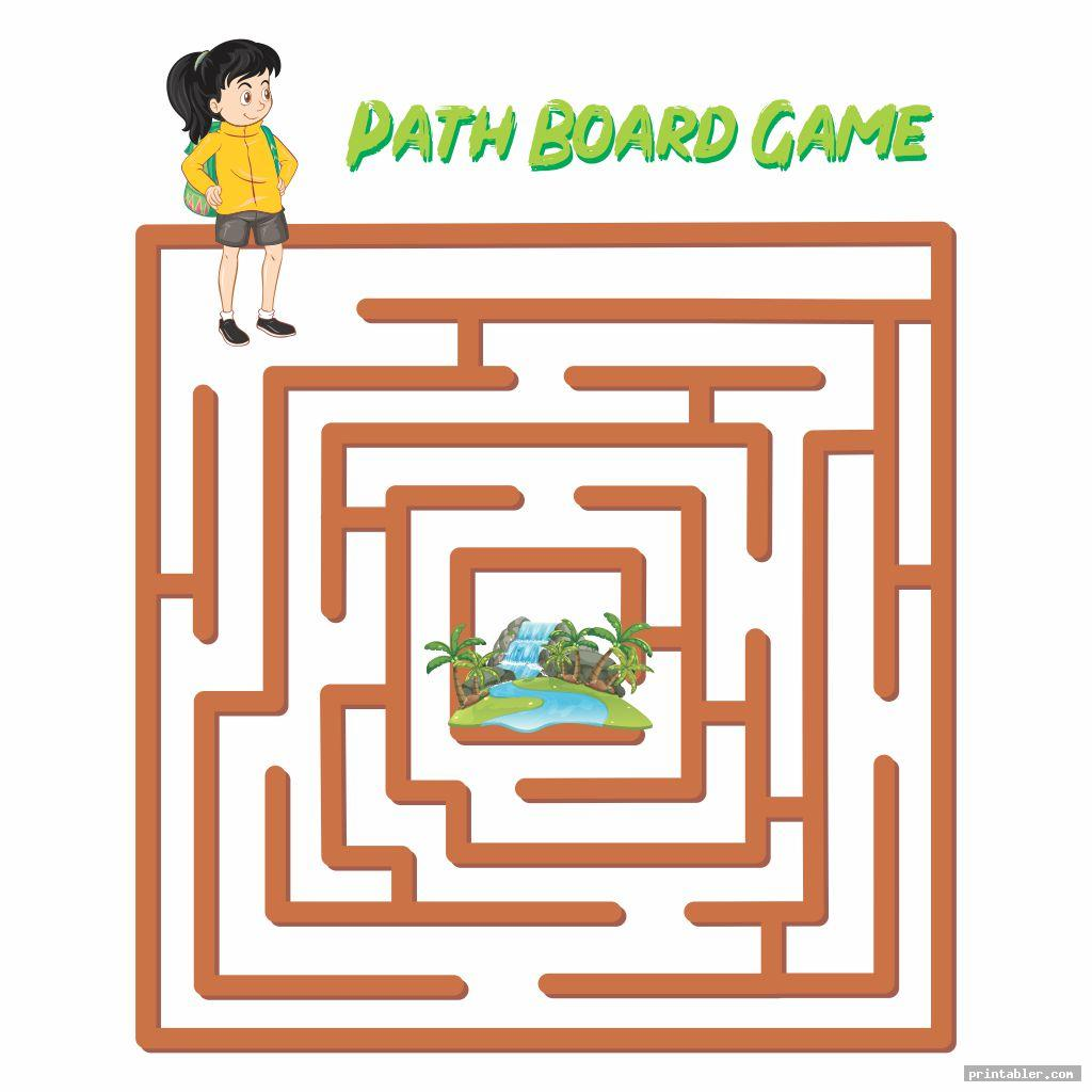 Path Game Board Templates Printable