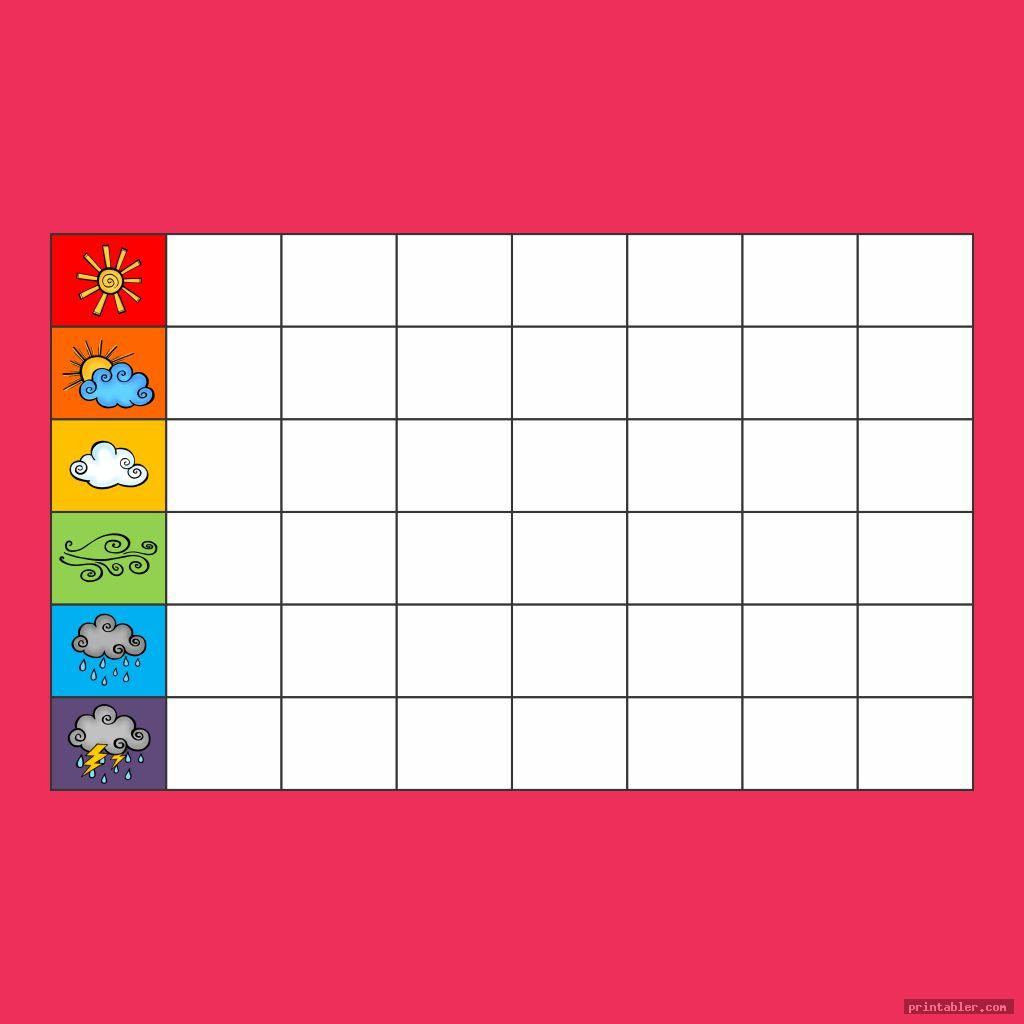 aesthetic printable weather chart for kindergarten