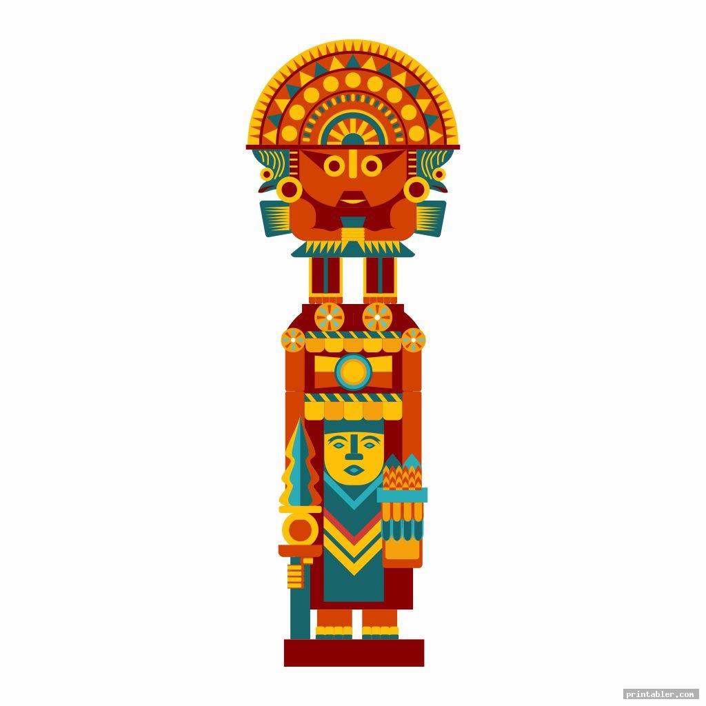 aztec printable totem pole templates