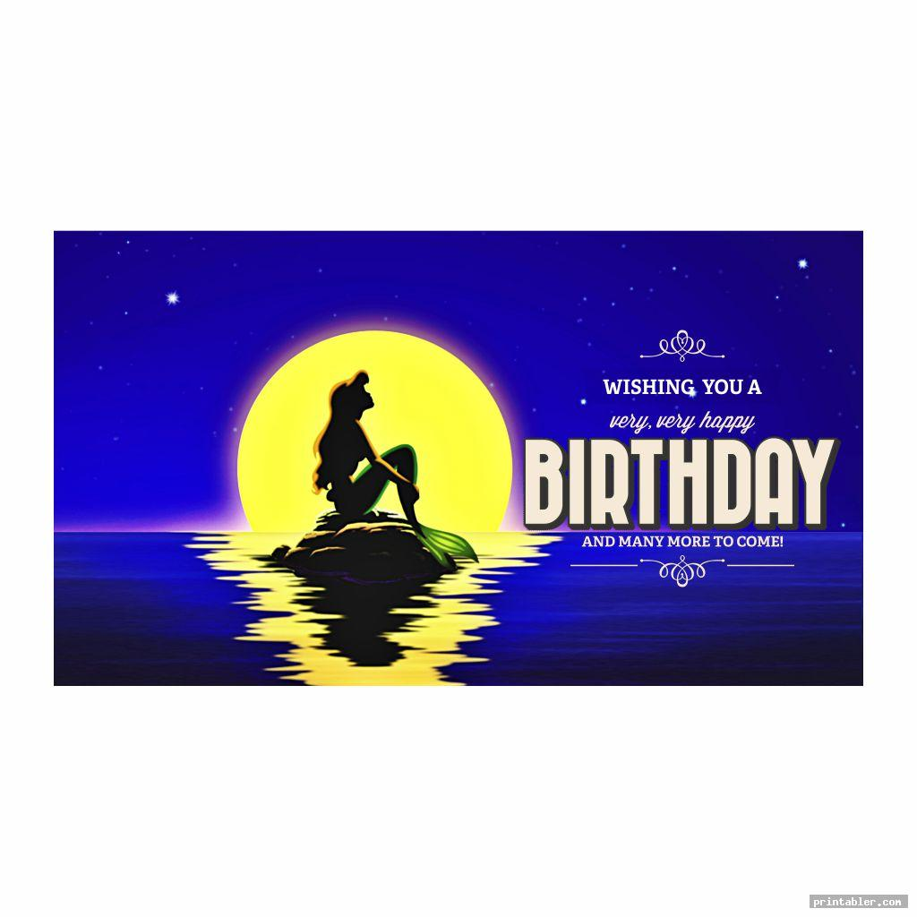 banner ariel birthday printables