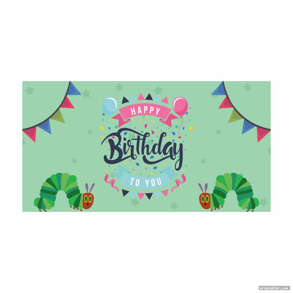 banner very hungry caterpillar birthday printables