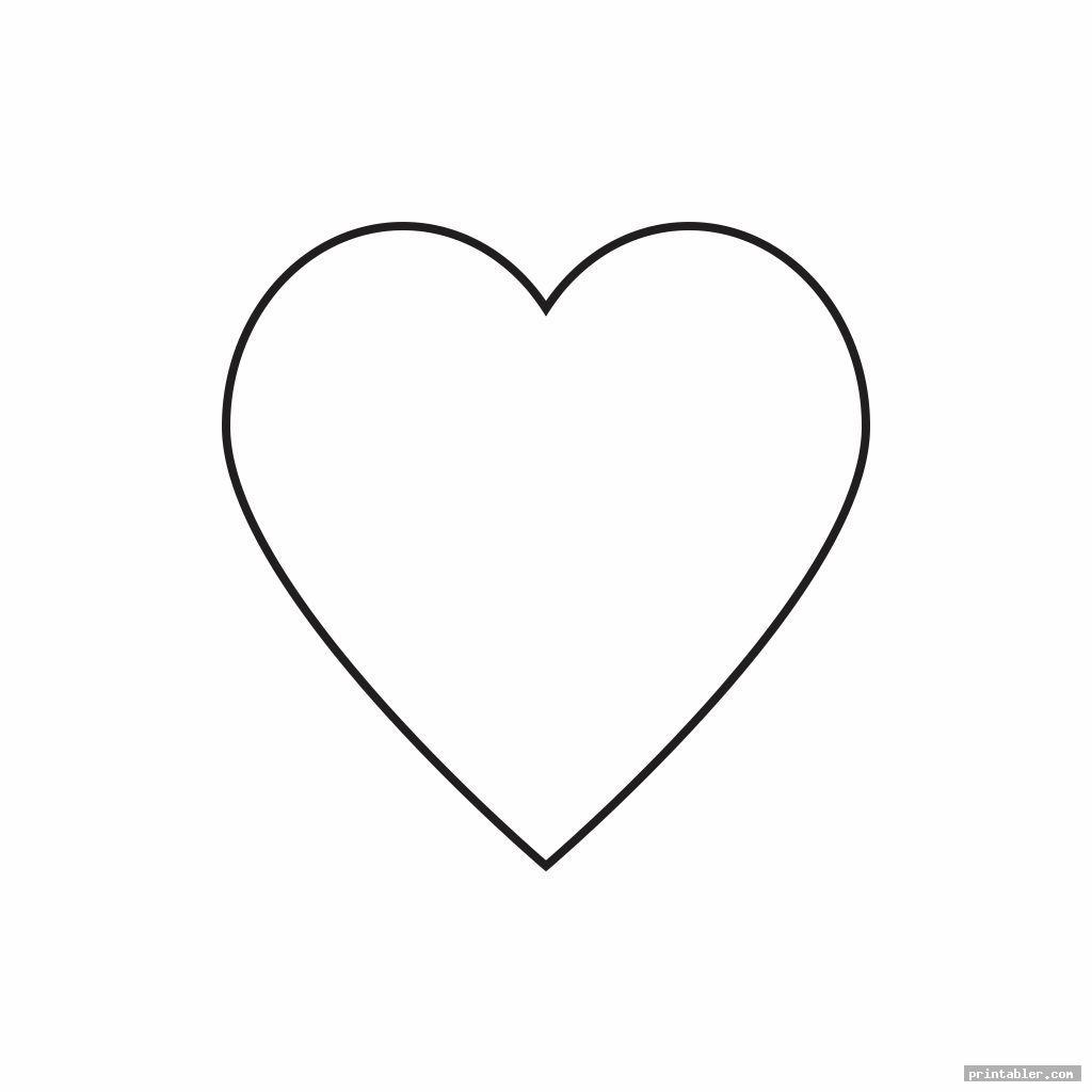 basic 2 inch heart template printable