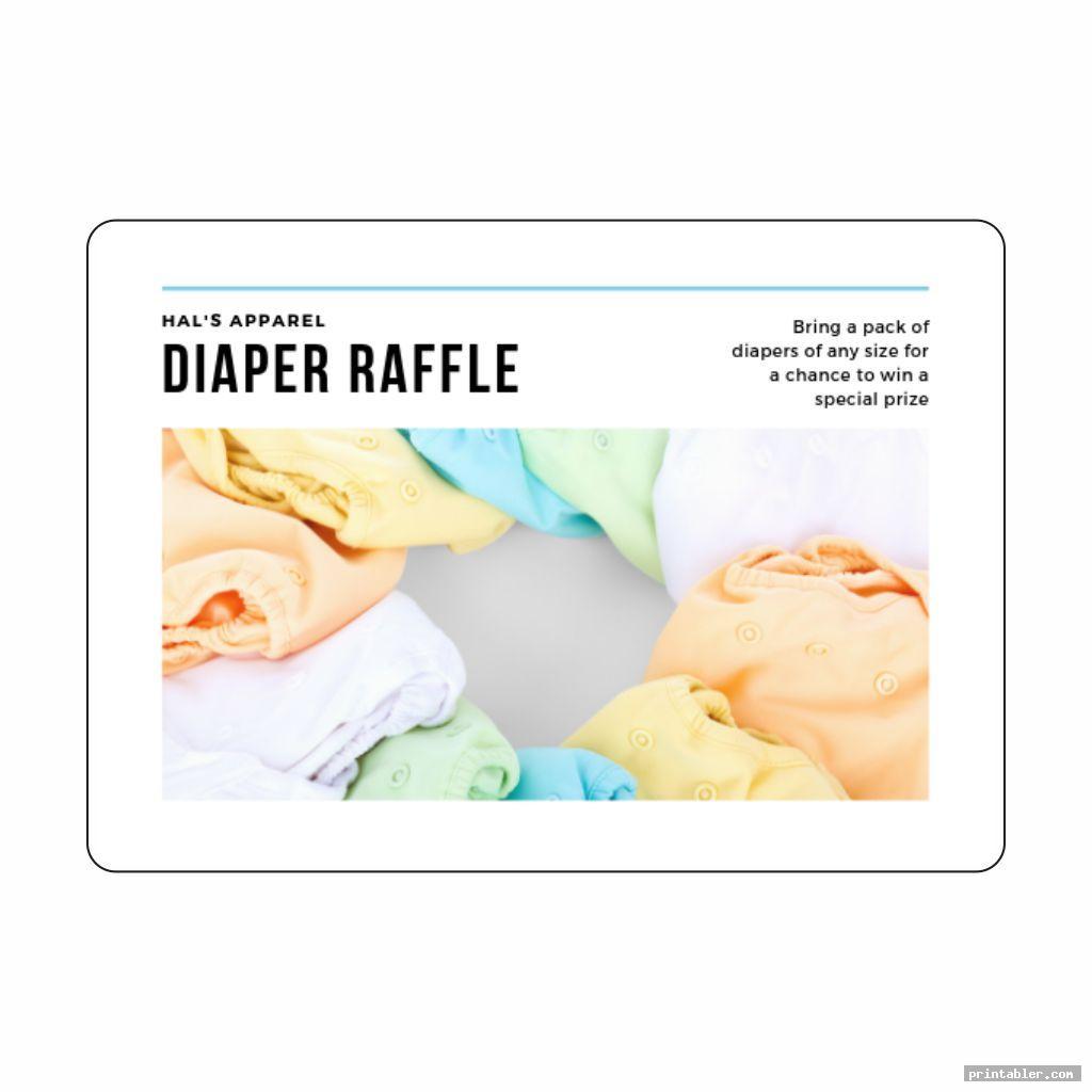 basic printable diaper raffle sign