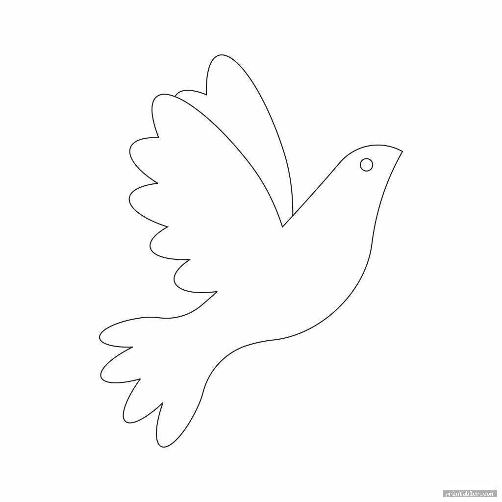 basic printable dove template
