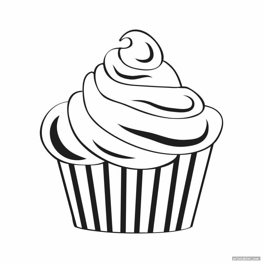 Printable Birthday Cupcake Outlines