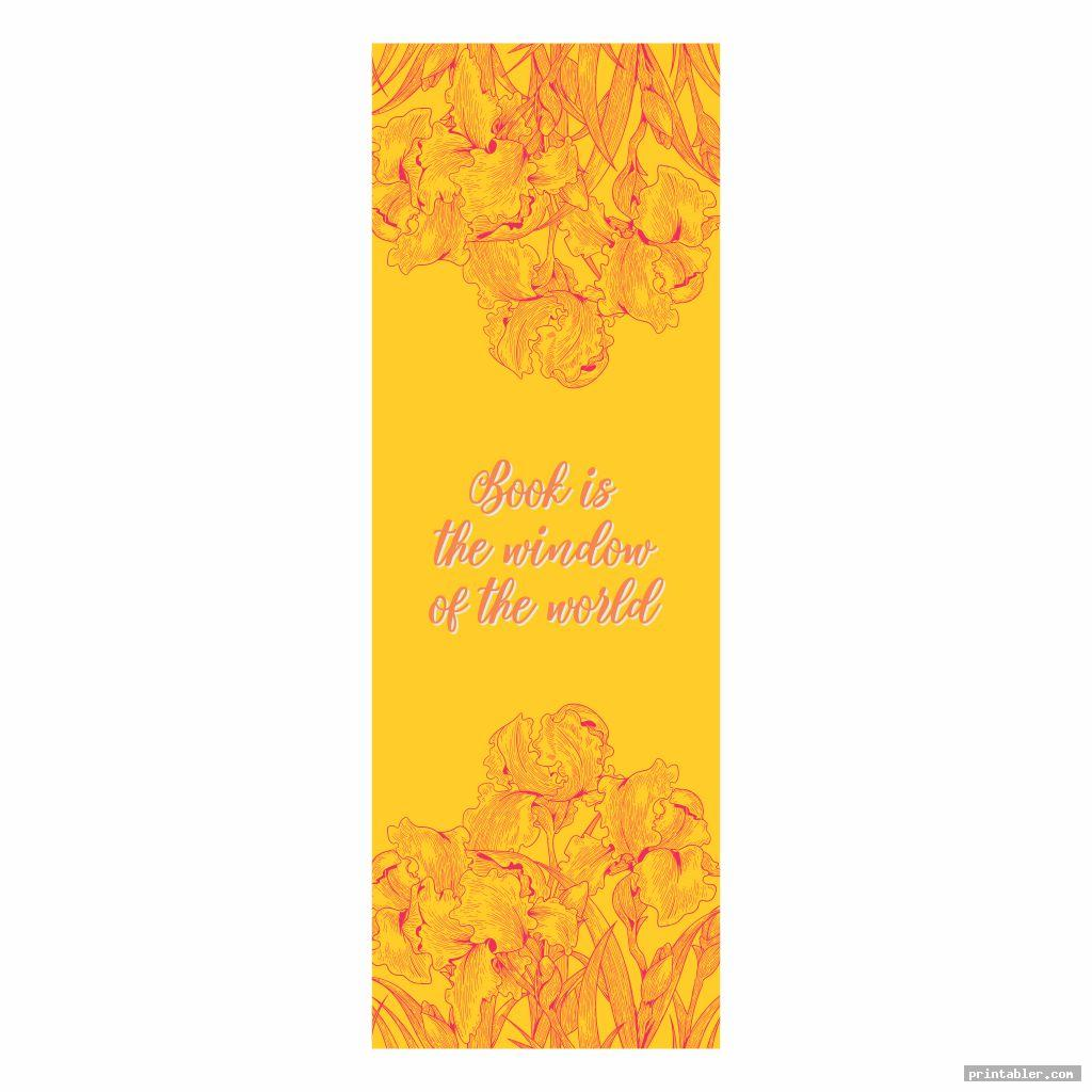 beautiful printable bookmarks with flowers with color