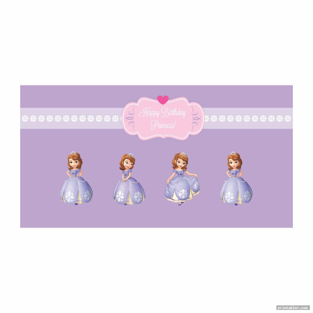 birthday banner for sofia the first printable banners
