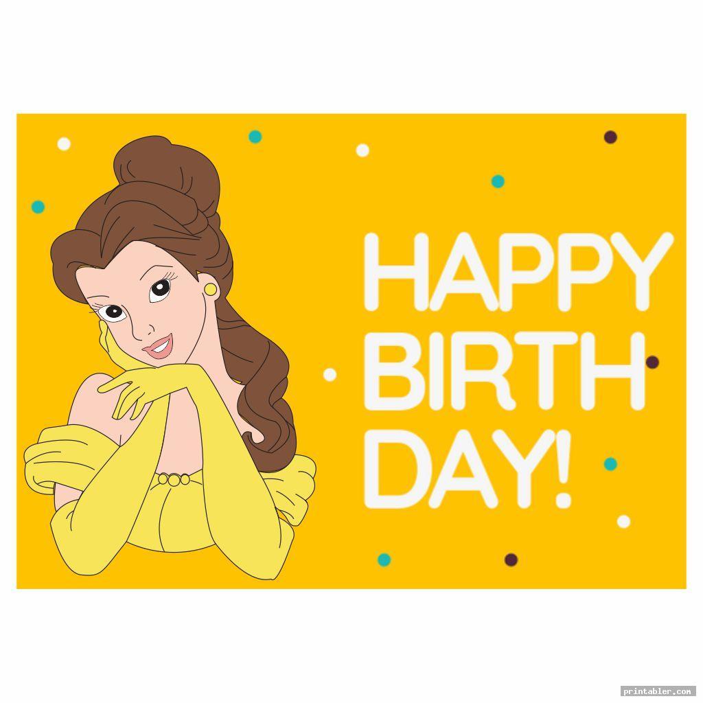birthday printable disney princess cards
