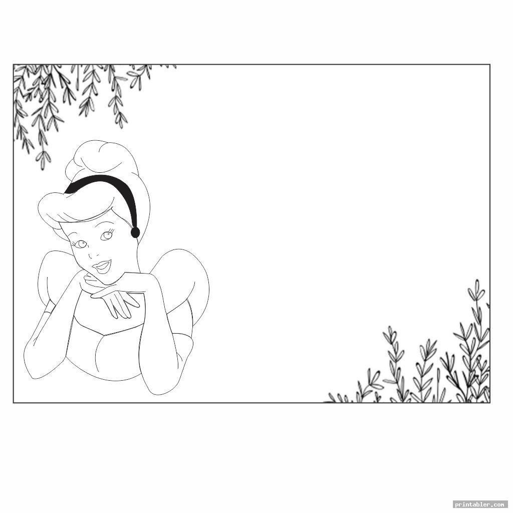 black and white printable disney princess cards