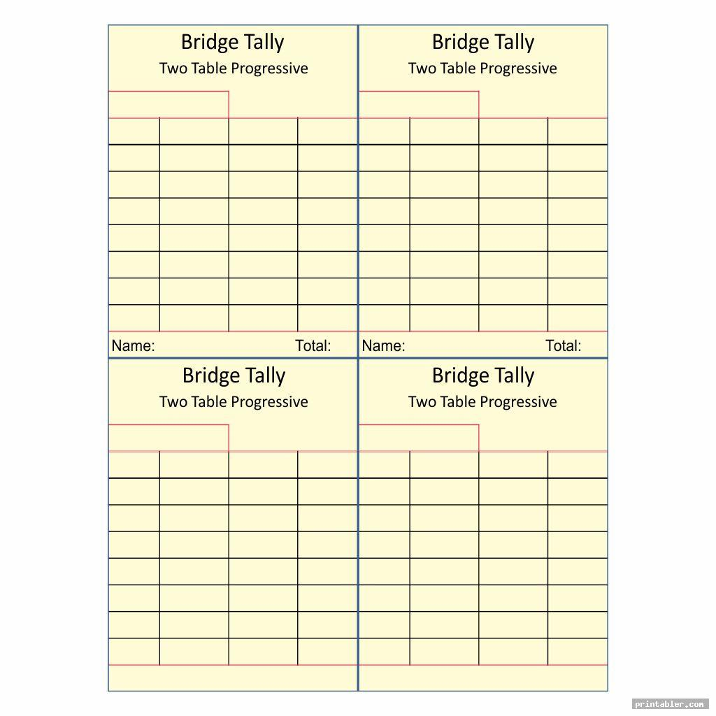 It's just a picture of Intrepid Printable Bridge Tallies