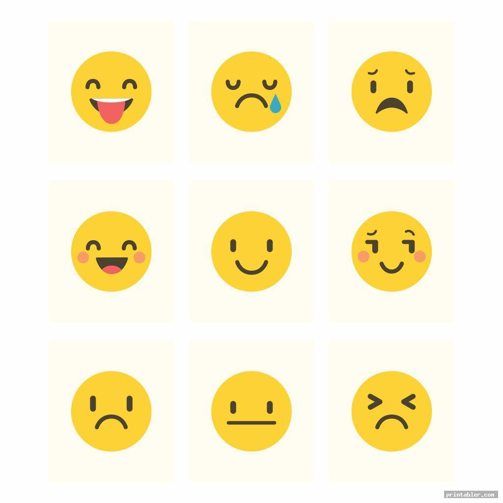 blank printable emotion cards