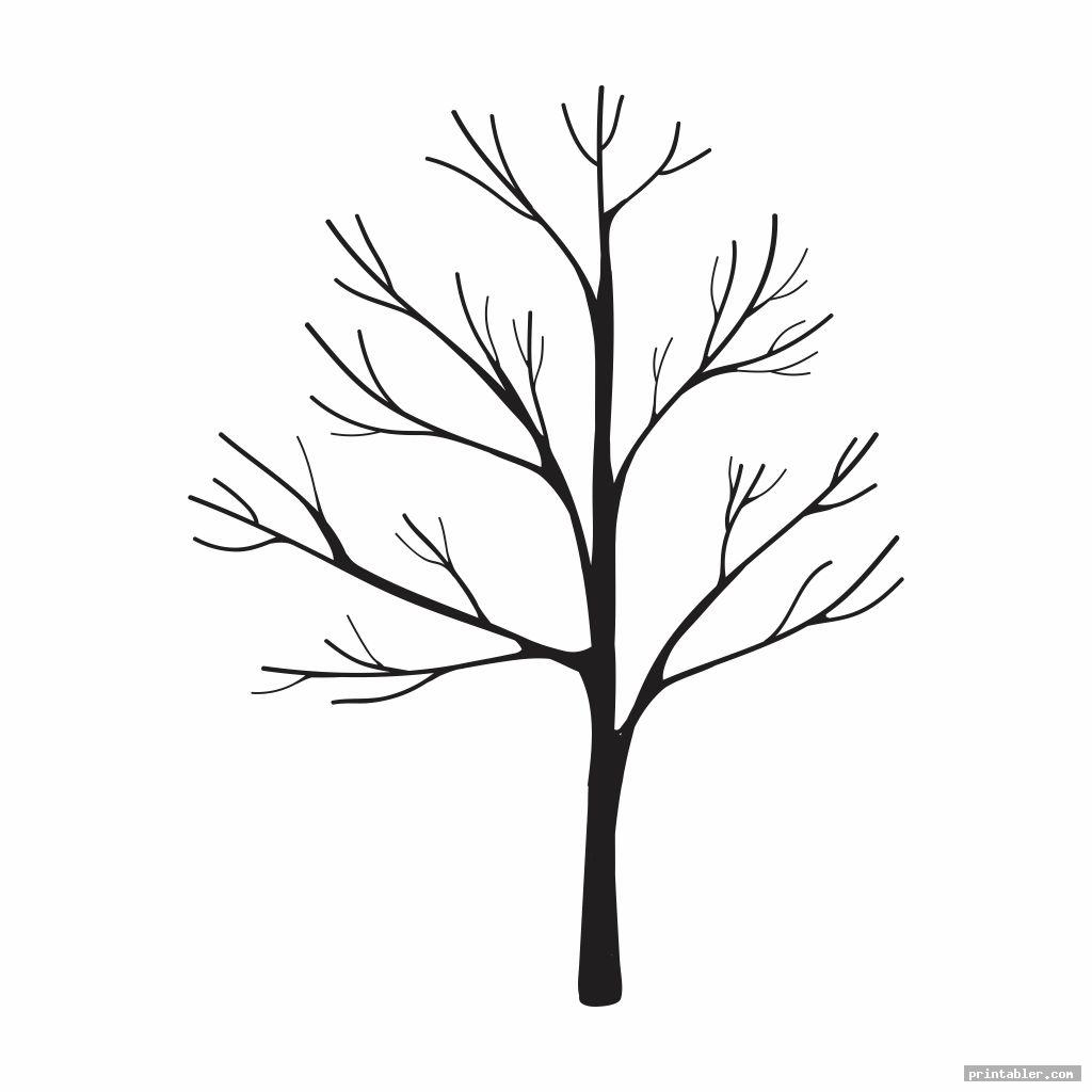 blank printable fingerprint tree