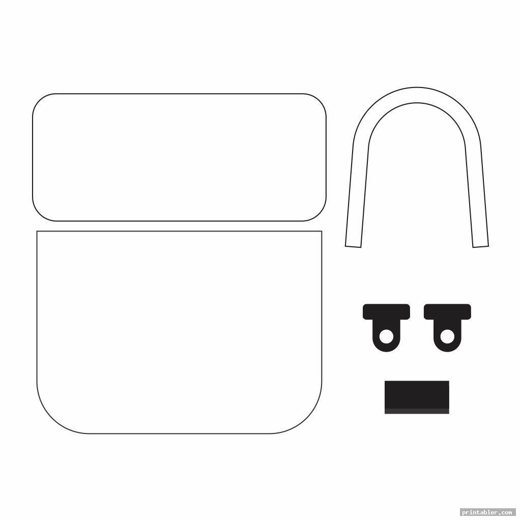 blank printable walker bag pattern