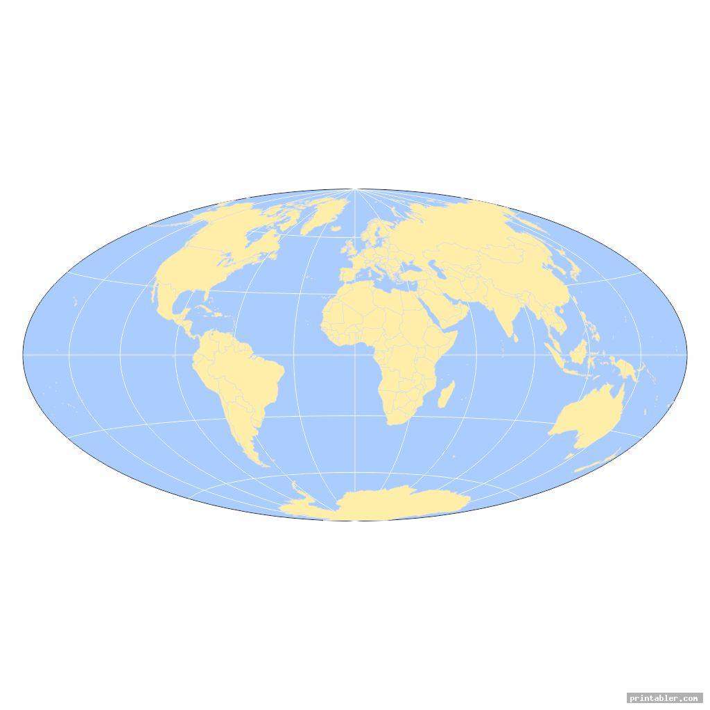blank world map full page printable