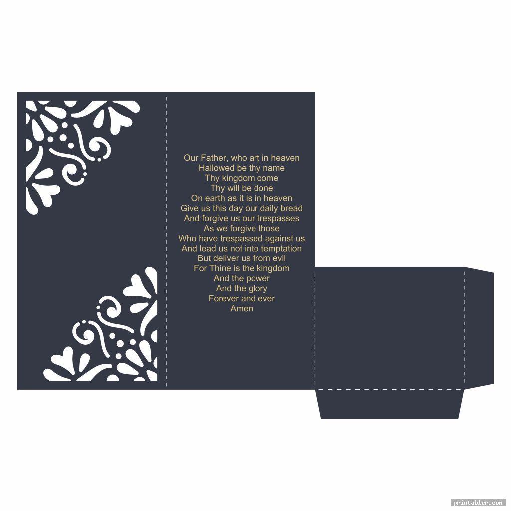 Printable Lords Prayer Craft