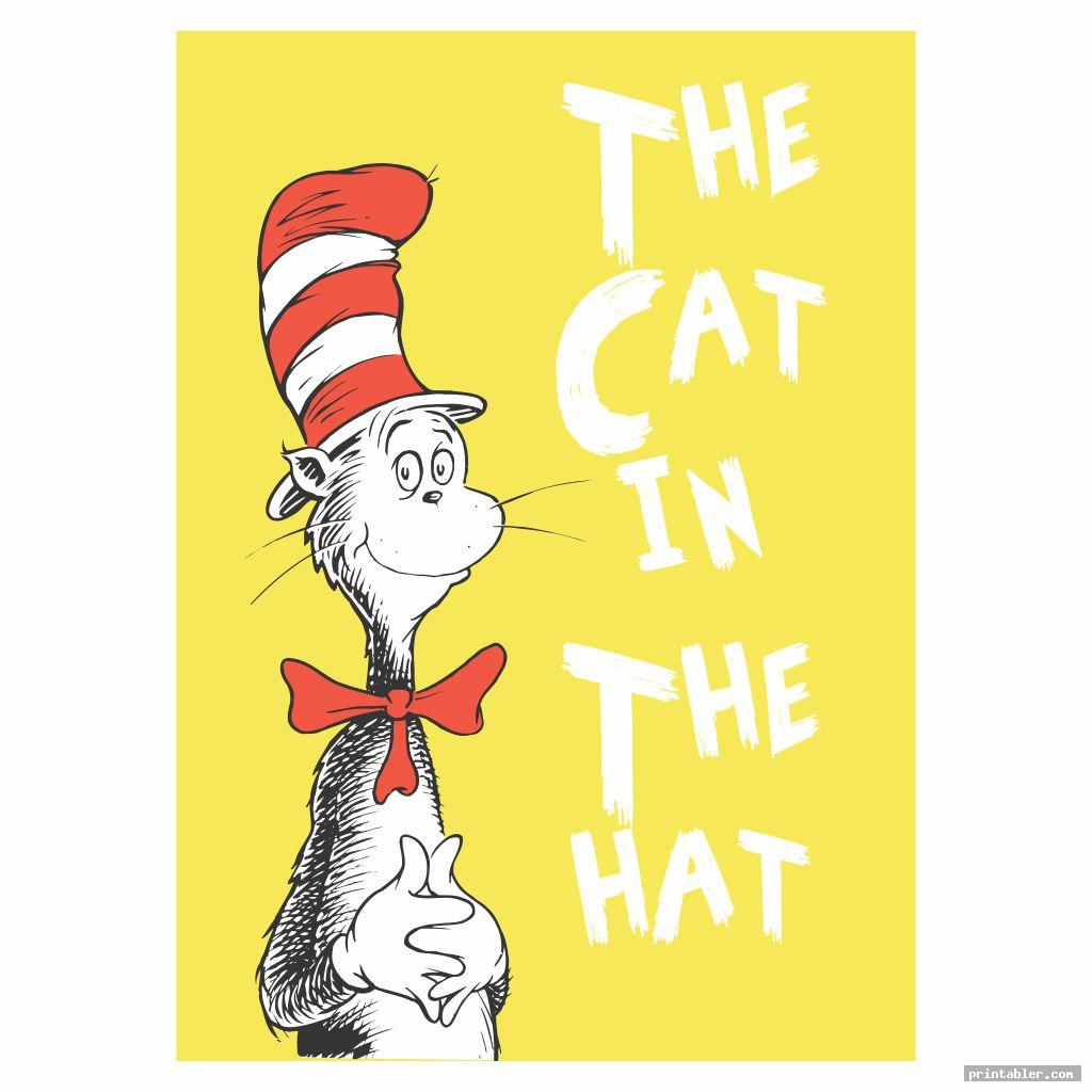 cat in the hat dr seuss book covers printables
