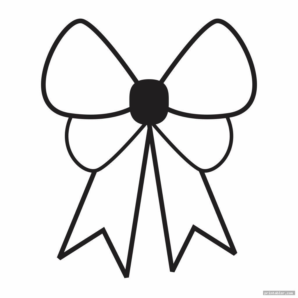 cheer bow template printable image free