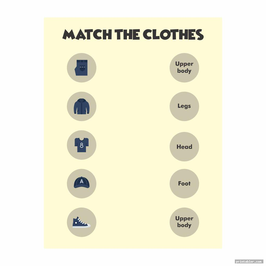 clothes printable worksheets image free