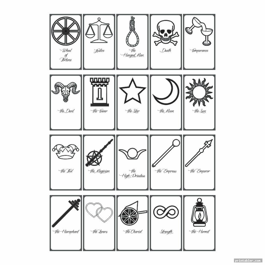 Color Yourself Tarot Cards Printable