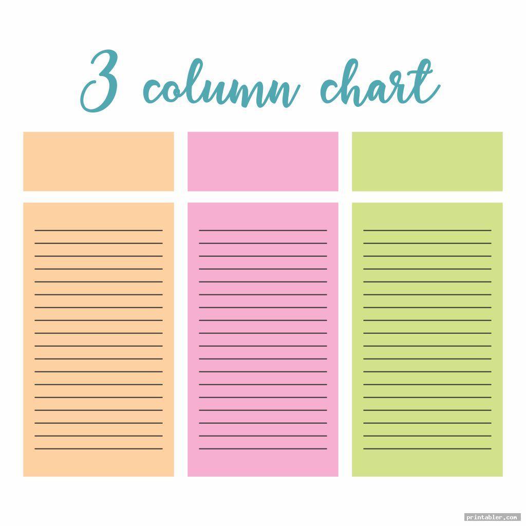3 Columns Chart Printable Templates