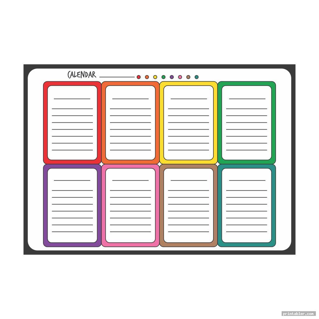 colorful classroom daily schedule printable