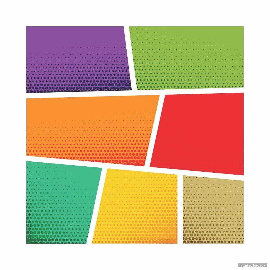 colorful comic book templates printable