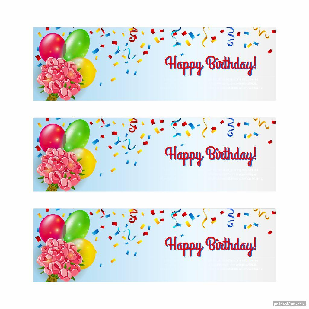 colorful diy birthday banner printable template