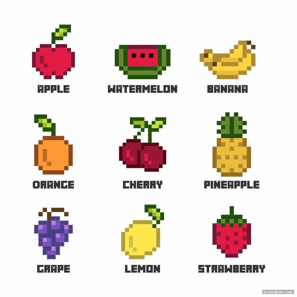 Minecraft Food Printables Card