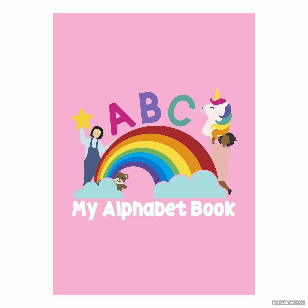 colorful printable alphabet book cover
